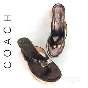 Coach Jules Wedge Sandals
